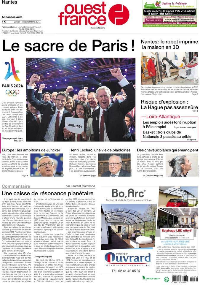 Ouest france Sept 2017