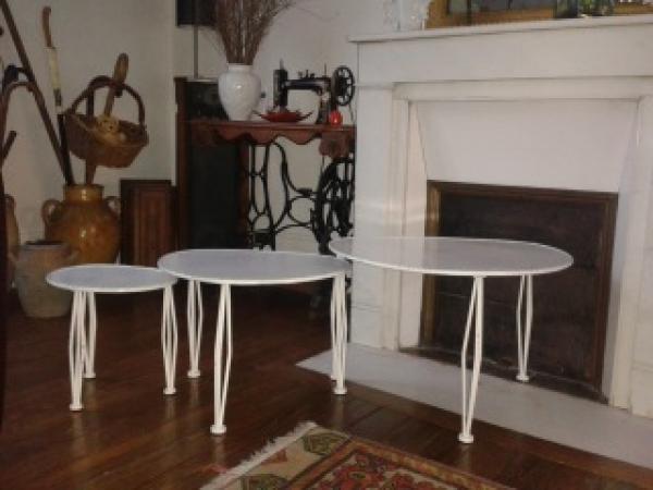 Ik was op zoek naar deze tafels voor een lange tijd. Een kleine tuin hoek voor mijn houten interieur.