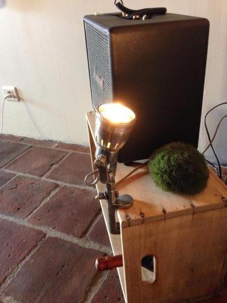 Mijn klemlamp!