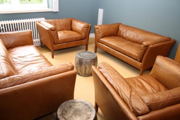 Mijn nieuwe lederen meubels