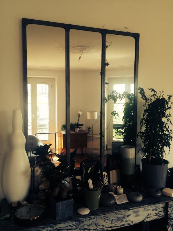 Workshop spiegel bevolkt door een klimplant!