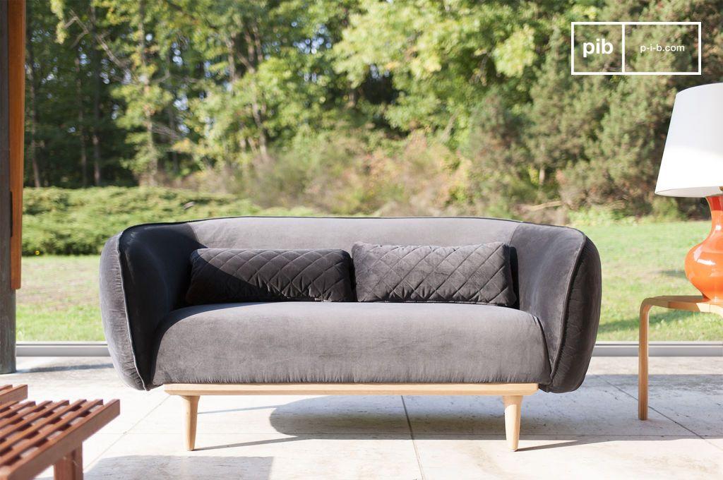 gebogen olson sofa gebogen stijl en omhullende vorm pib. Black Bedroom Furniture Sets. Home Design Ideas