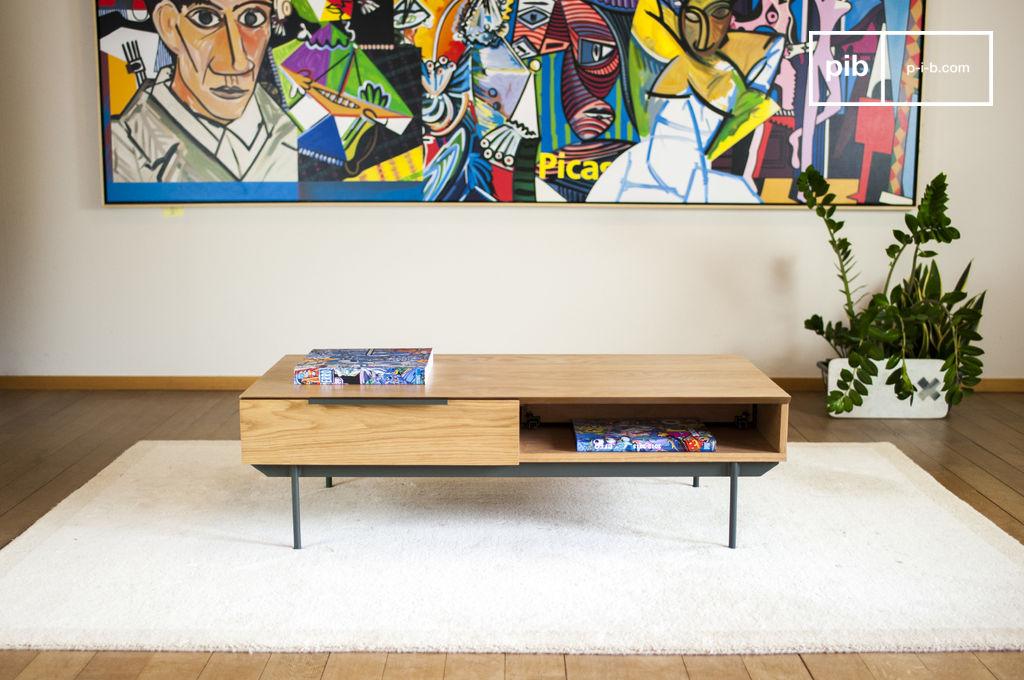 Jackson salontafel helder hout en functionaliteit pib - Decoratie tafel basse ...