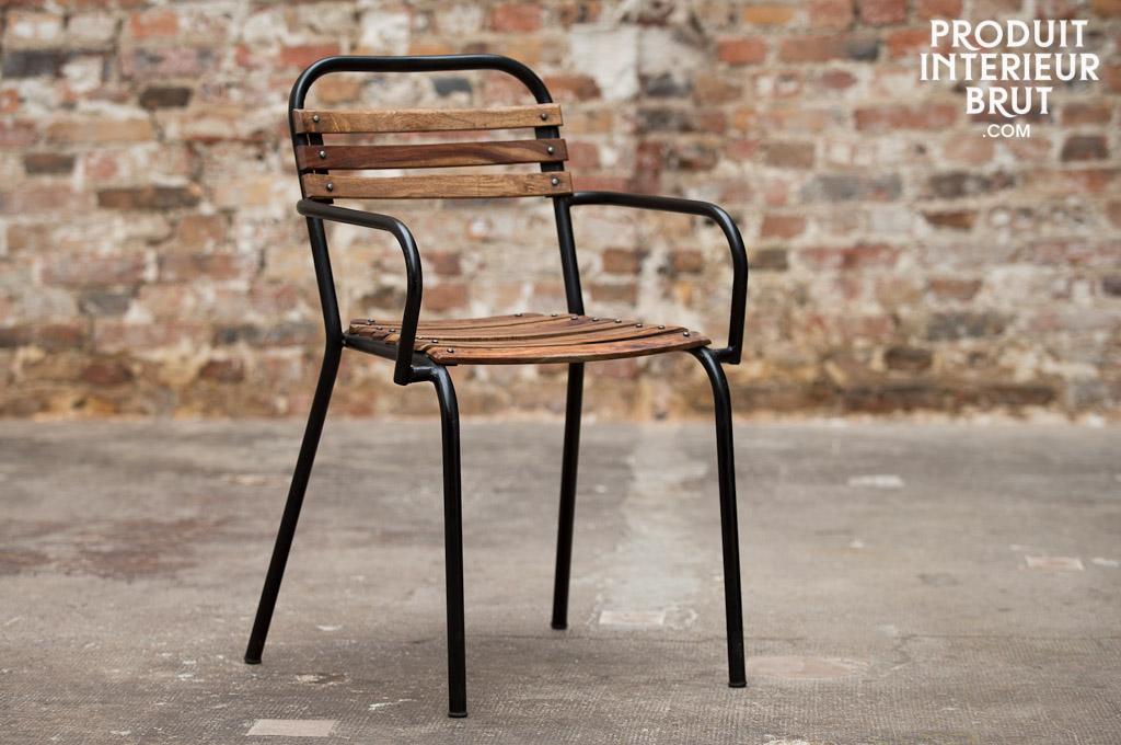Mistral stoel met armleuning industri le stijl pib for Stoel met armleuning