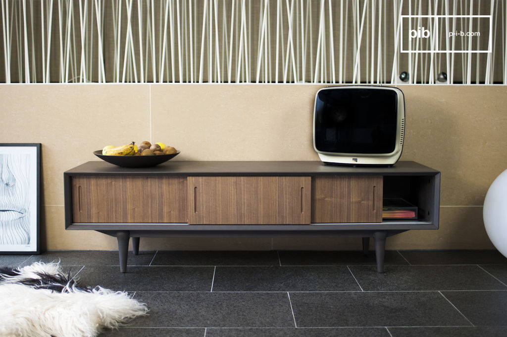 Tumma fjord tv meubel contrast van hout en jaren 39 60 pib - Fjord meubilair ...