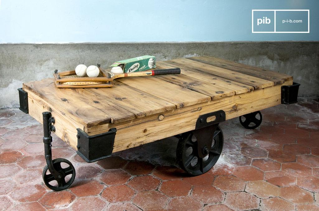 Wood wagon salontafel een tafel met karakter pib - Decoratie tafel basse ...