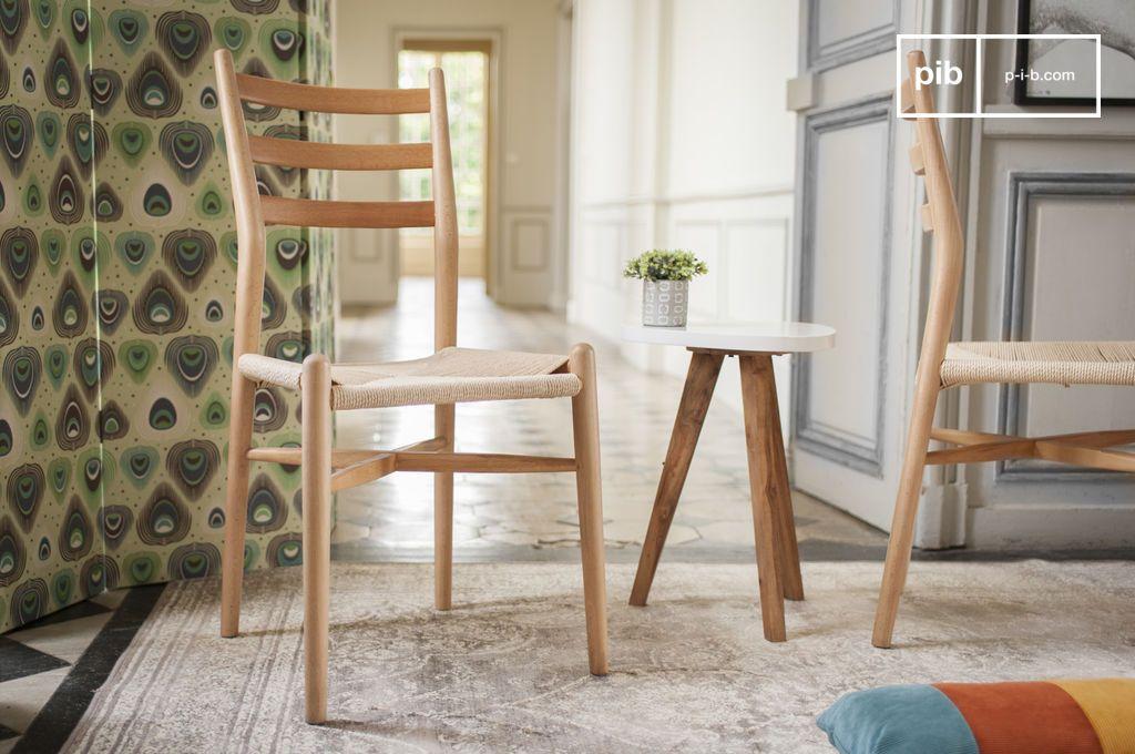 Ystad houten stoel een stoel met een slank design ideaal pib - Smeedijzeren stoel en houten ...