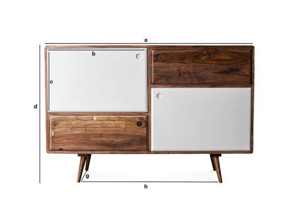 Productafmetingen 1969 houten dressoir