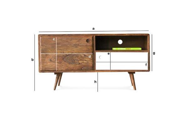 Productafmetingen 1969 tv-meubel