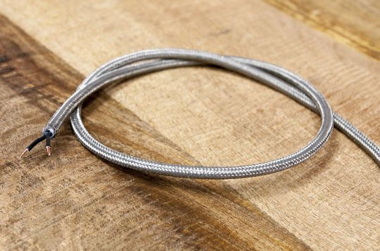 1m gevlochten metalen kabel