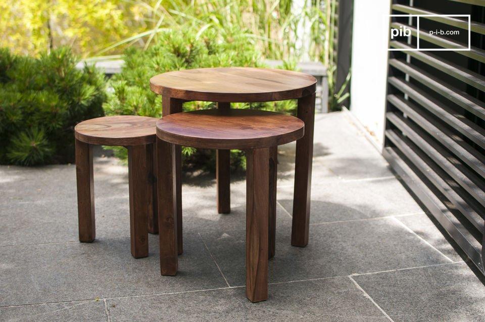3-delige Roza tafel