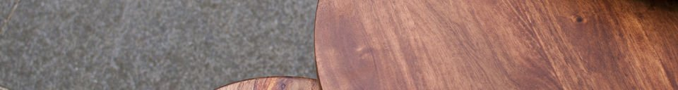 Benadrukte materialen 3-delige Roza tafel