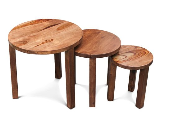 3-delige Roza tafel Productfoto