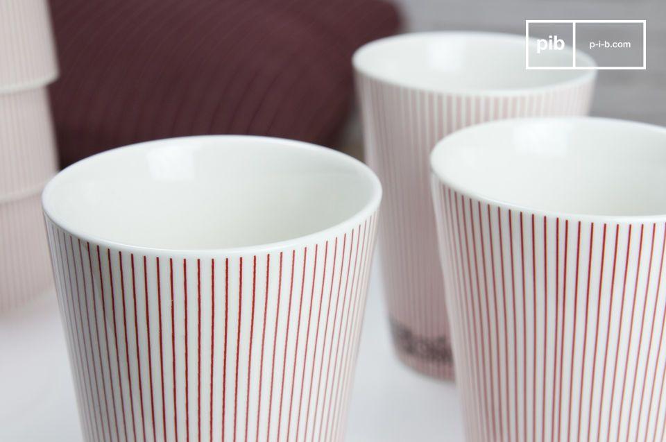 Porseleinen kopjes met een Scandinavische look