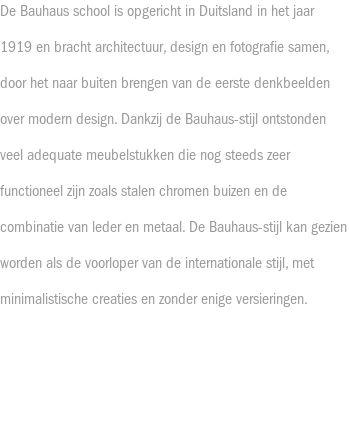 Bauhaus-stijl