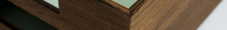Benadrukte materialen Akuagronn brievenbak