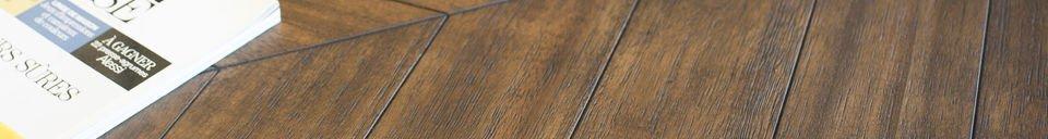 Benadrukte materialen Alienor houten tafel