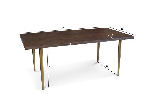 Productafmetingen Alienor houten tafel