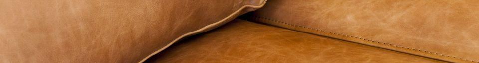Benadrukte materialen Amandel 3-zits bank bruin