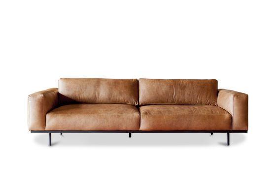 Amandel 3-zits bank bruin Productfoto