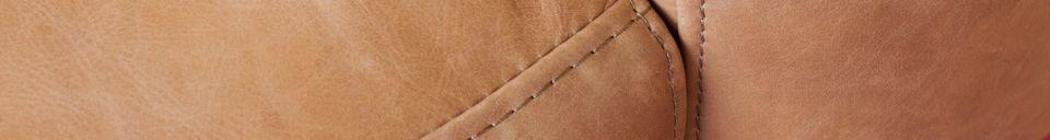 Benadrukte materialen Amandel fauteuil in bruin leer