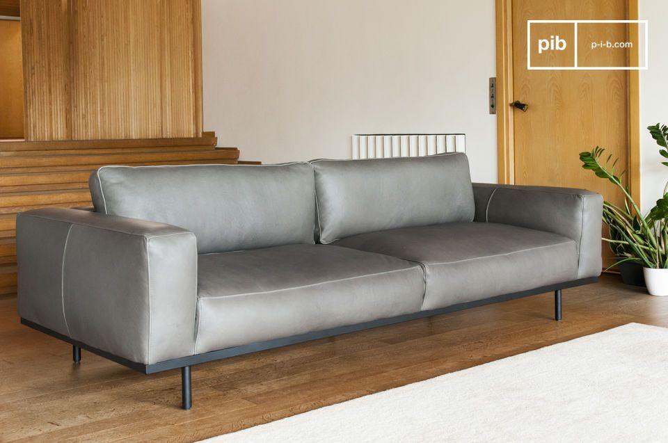 Een comfortabele fauteuil van nougatleder