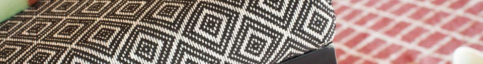 Benadrukte materialen Ambroise zwart-witte stoel