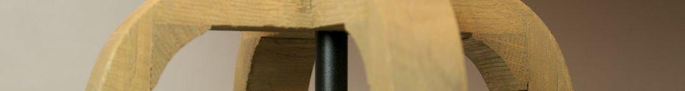 Benadrukte materialen Andersen tafellamp