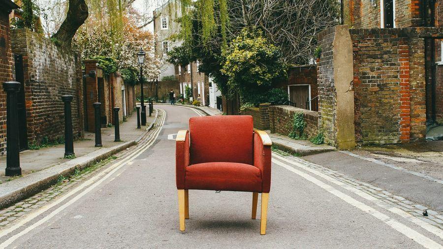 Antieke rode zetel