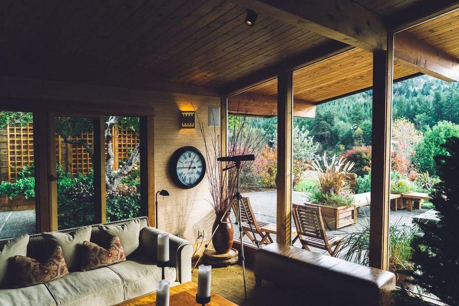 Antieke veranda