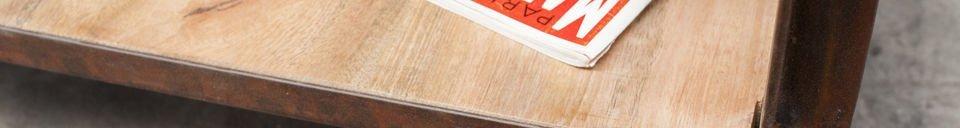 Benadrukte materialen Aristode salontafel