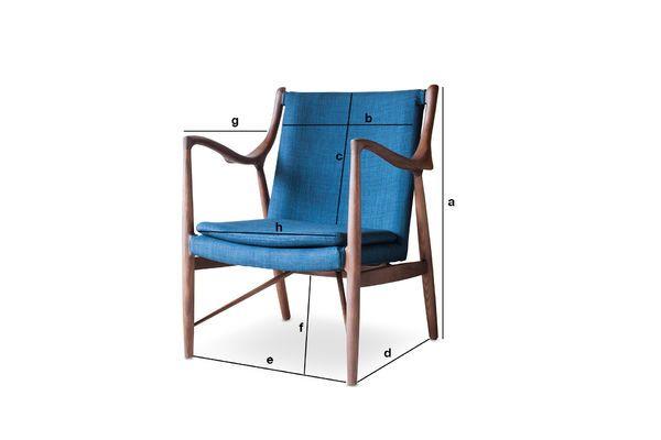 Productafmetingen Ash fauteuil Graham