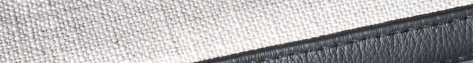 Benadrukte materialen Aston fauteuil