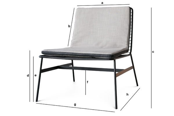 Productafmetingen Aston fauteuil