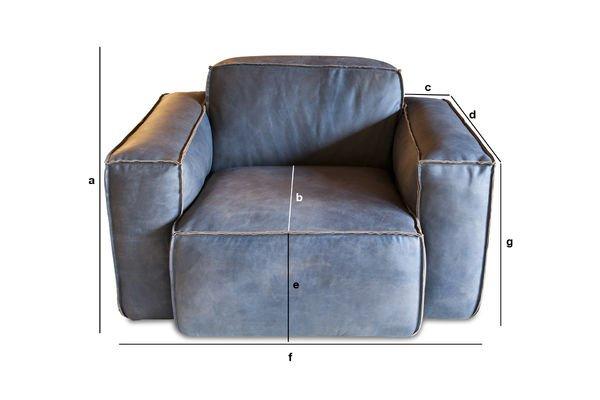 Productafmetingen Astullivan fauteuil