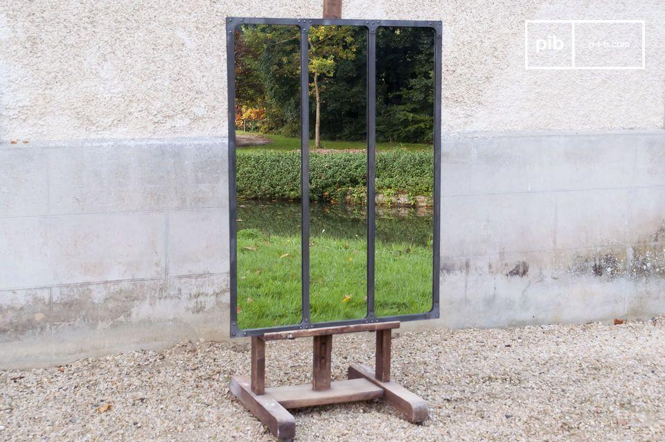 Atelier spiegel met metalen frame