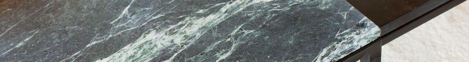 Benadrukte materialen Avedore grote groene marmeren salontafel