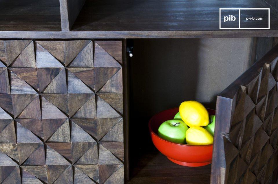 Geometrische reliëf voor een 100% vintage look