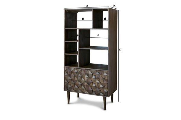 Productafmetingen Balkis houten boekenkast