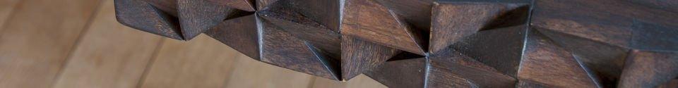 Benadrukte materialen Balkis houten bureau
