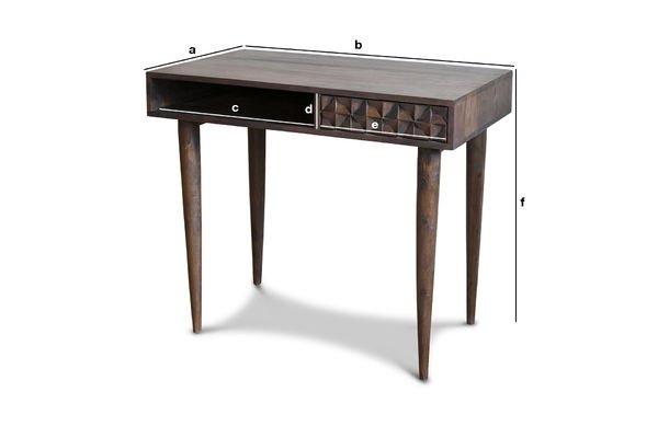 Productafmetingen Balkis houten bureau