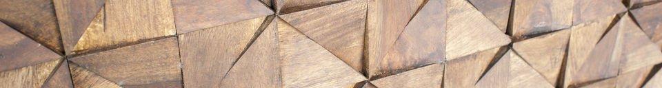 Benadrukte materialen Balkis houten dressoir