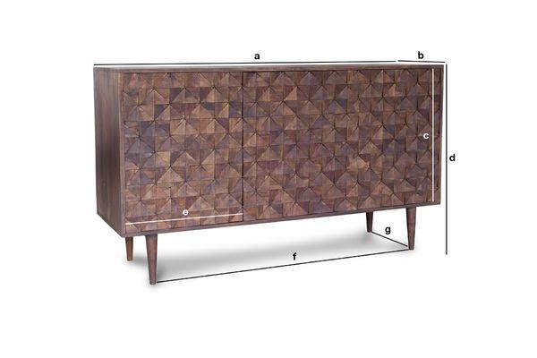 Productafmetingen Balkis houten dressoir