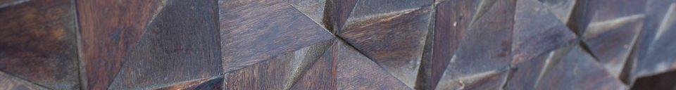 Benadrukte materialen Balkis houten nachtkastje