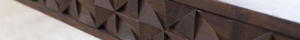 Benadrukte materialen Balkis houten salontafel