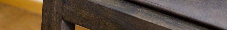 Benadrukte materialen Balkis stoel met armleuningen