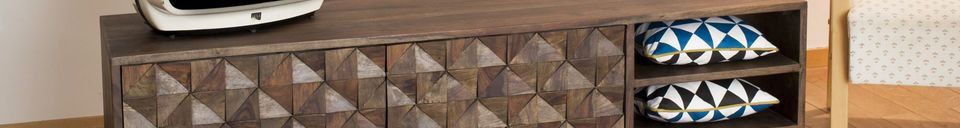 Benadrukte materialen Balkis Tv meubel