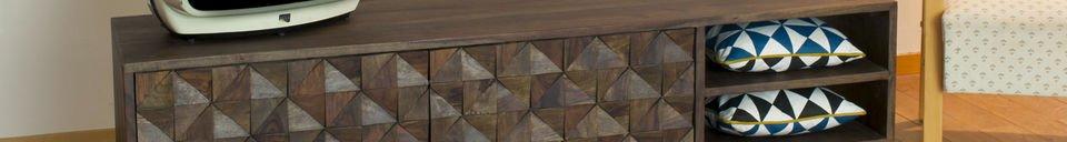 Benadrukte materialen Balkist Tv meubel