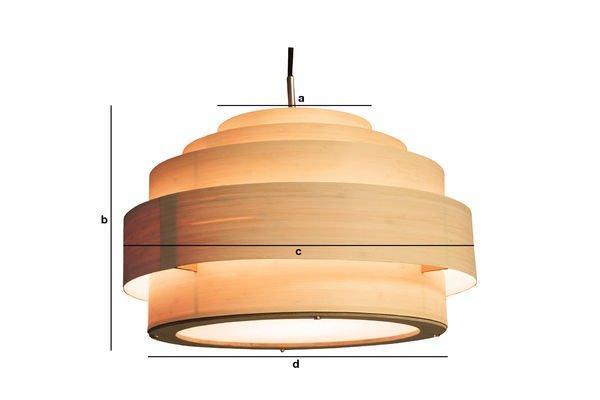 Productafmetingen Bamboe hanglamp 40 cm