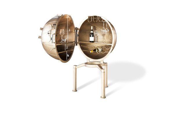 Productafmetingen Bar Globe Jules Vernes